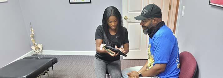 Chiropractor Roswell GA Keisha Bates Patient Eval